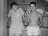David and myself in my room, Linksfield - 1968