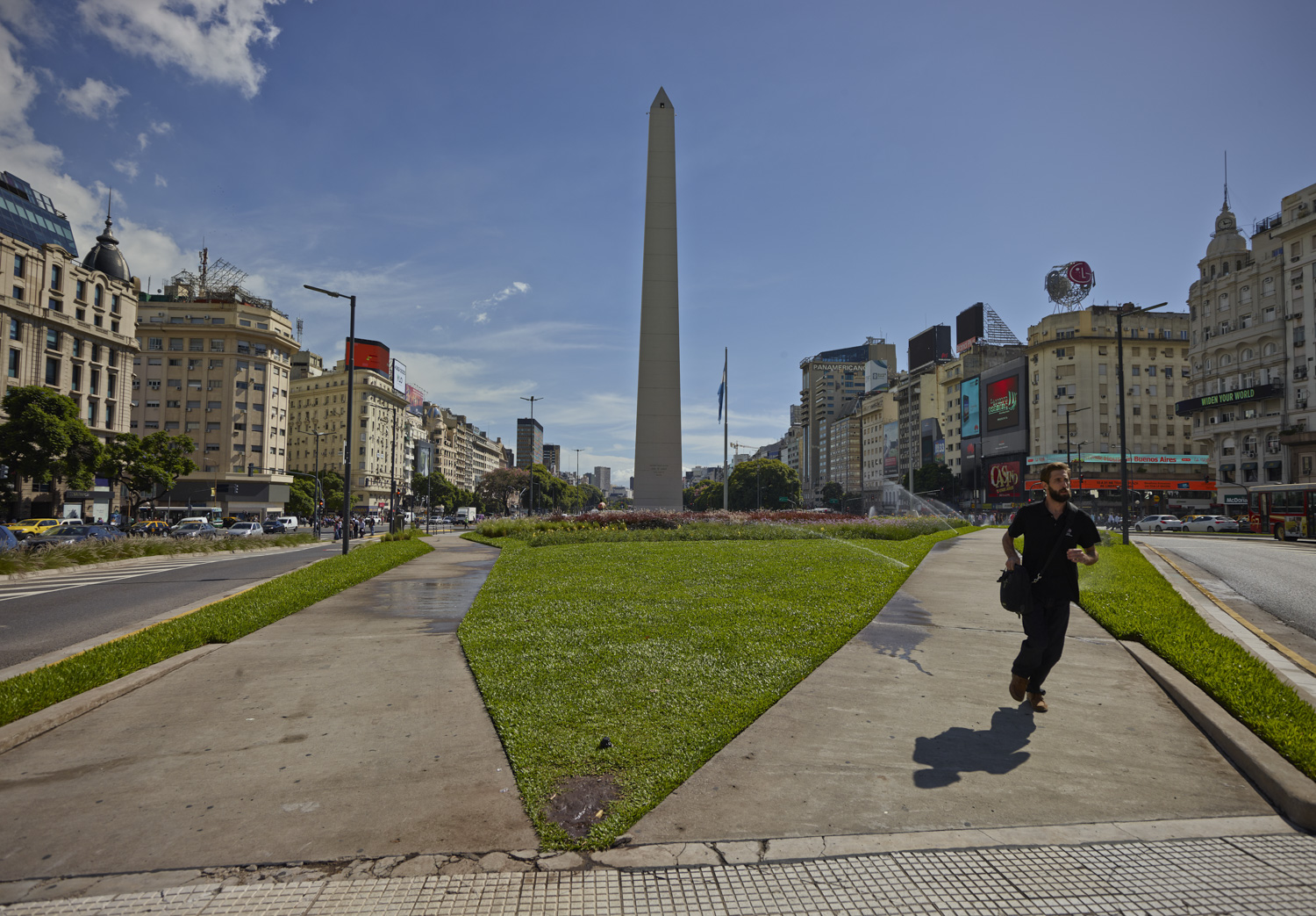 Man running - Buenos Aires, March 2016