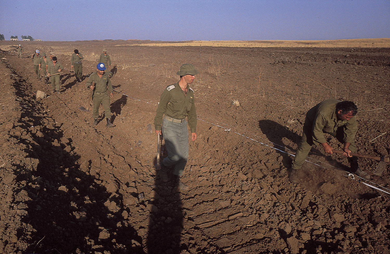 At work - Golan Heights, 1990