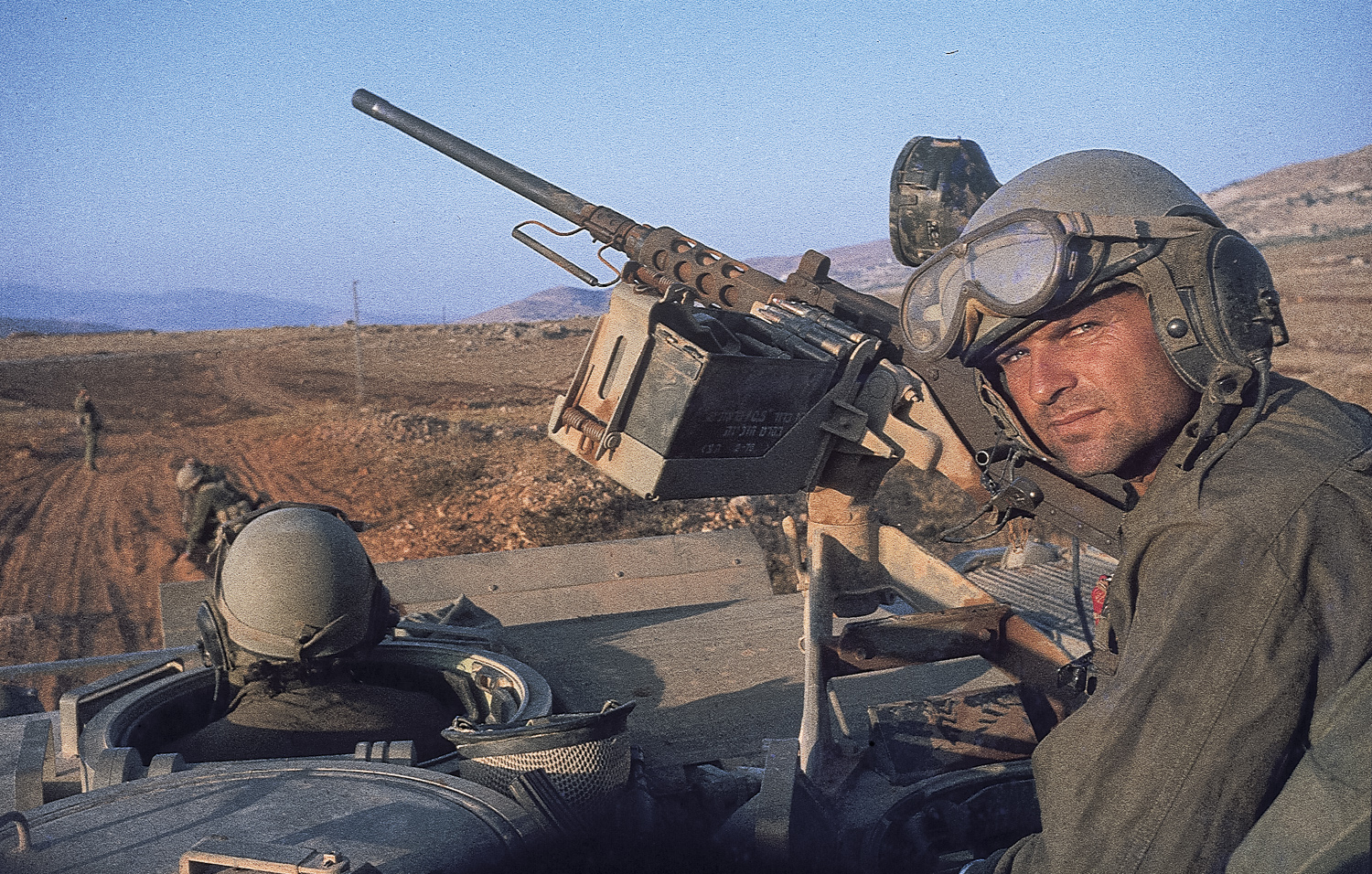 Avi, our platoon sergeant, opening an axis - Lebanon, 1982