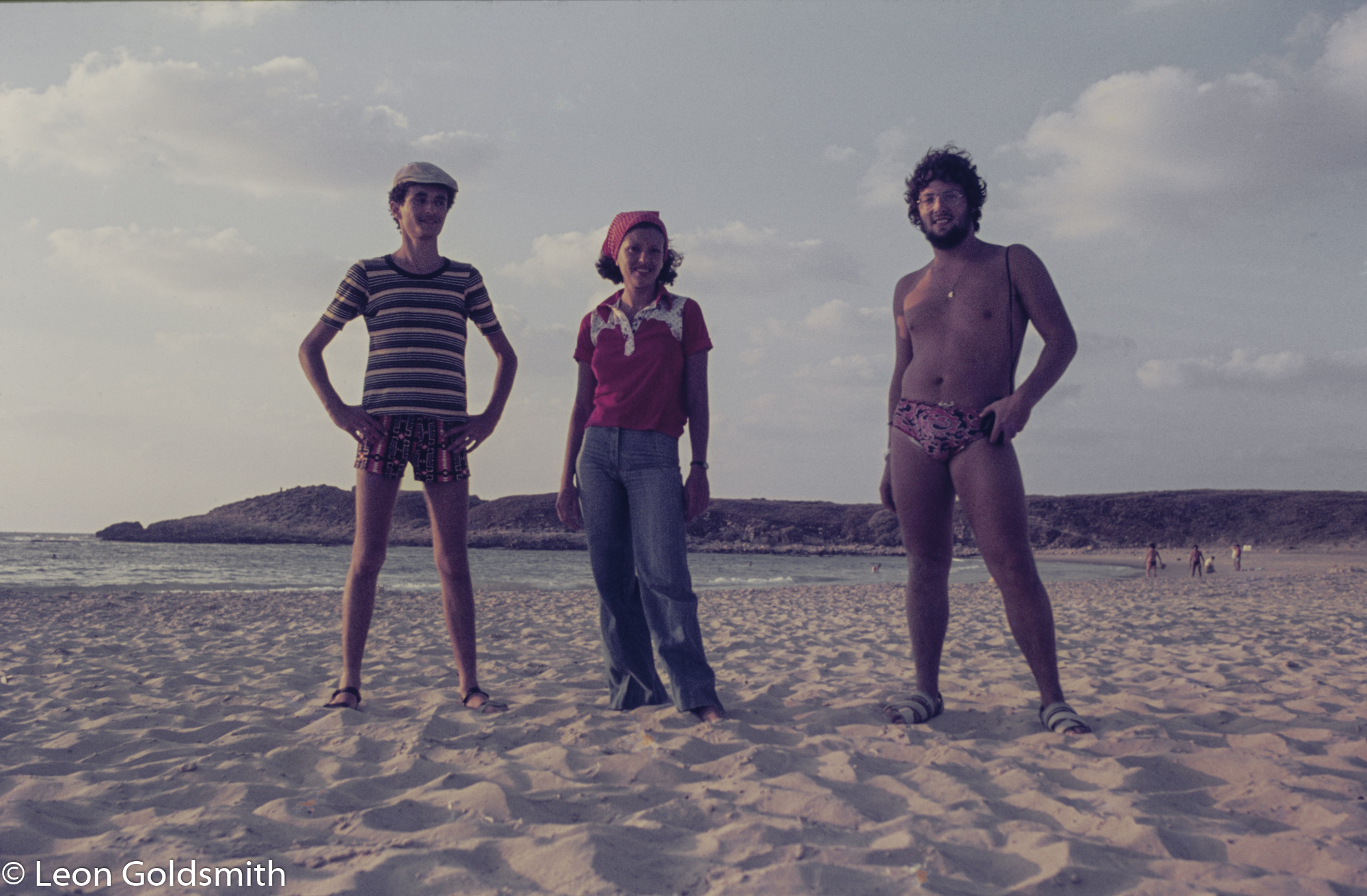 Marcos, Fanny and myself at Tantura, 1977