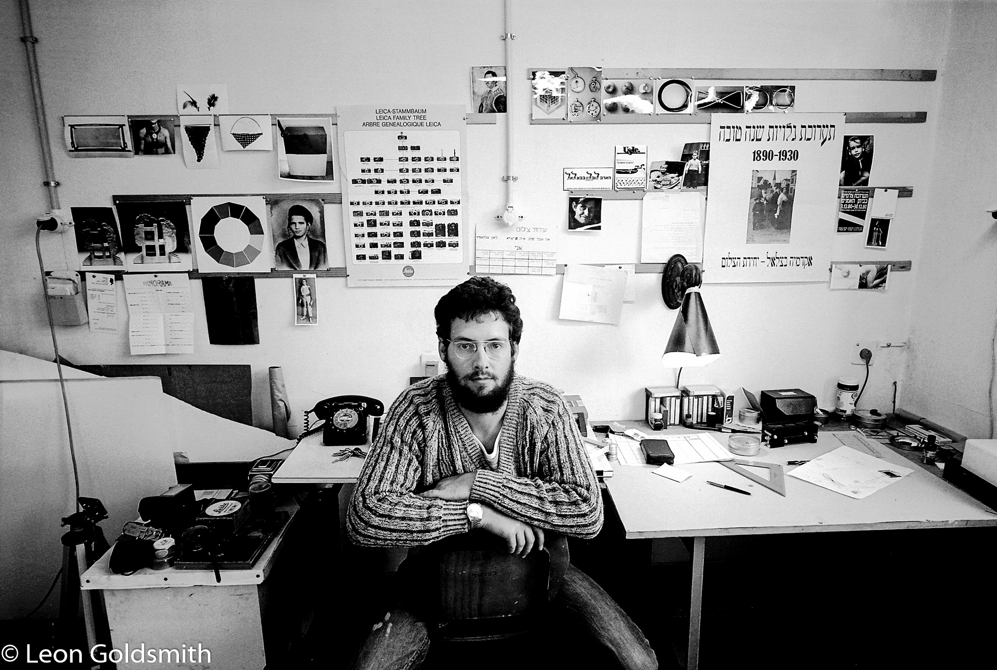 In my studio at Bezalel Art Academy - Jerusalem, 1983