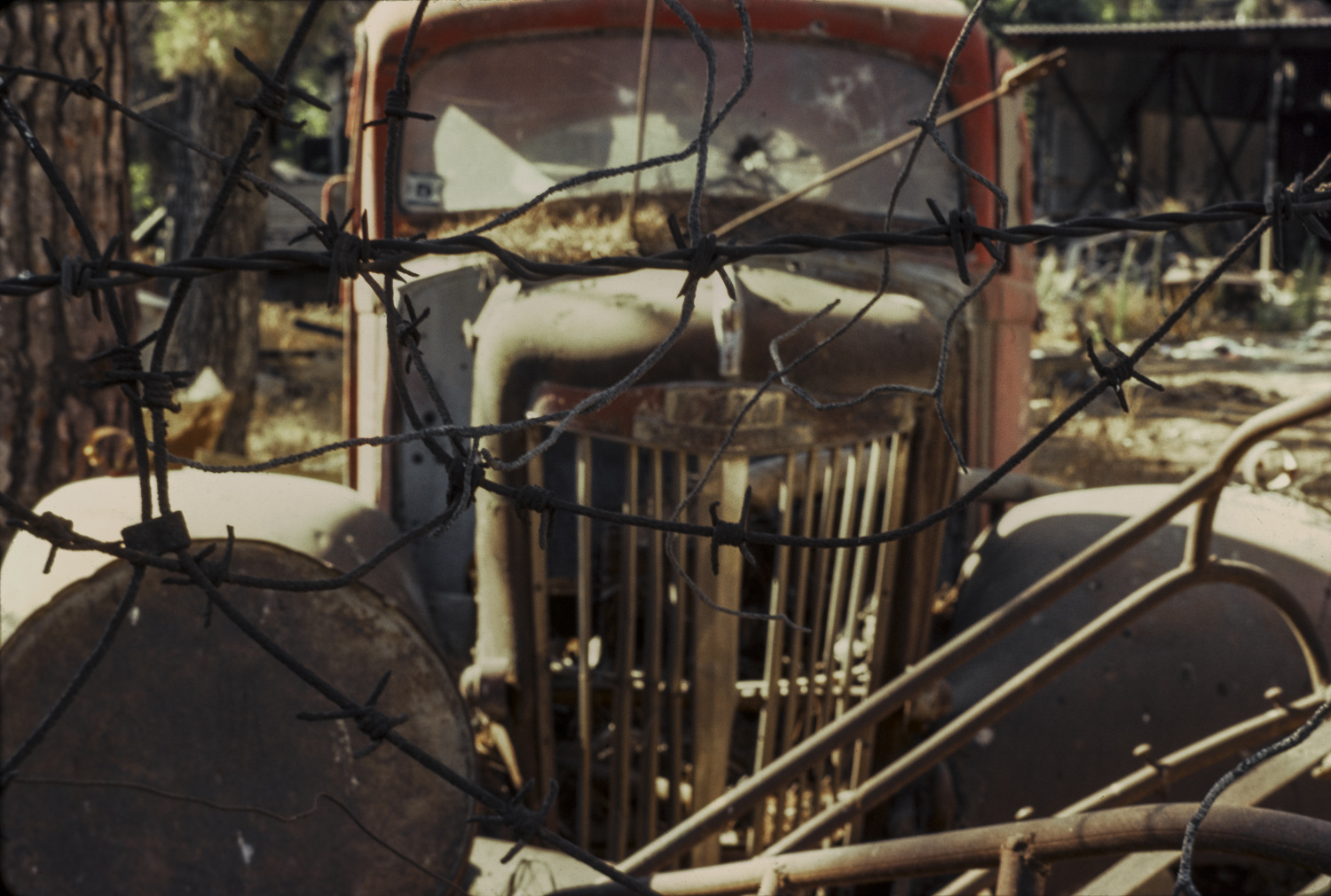 Truck and barbed wire - German Colony, Jerusalem, 1979