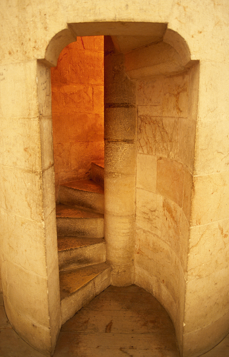 Tower stairway in the Church of the Redeemer - Old City of Jerusalem, 1981
