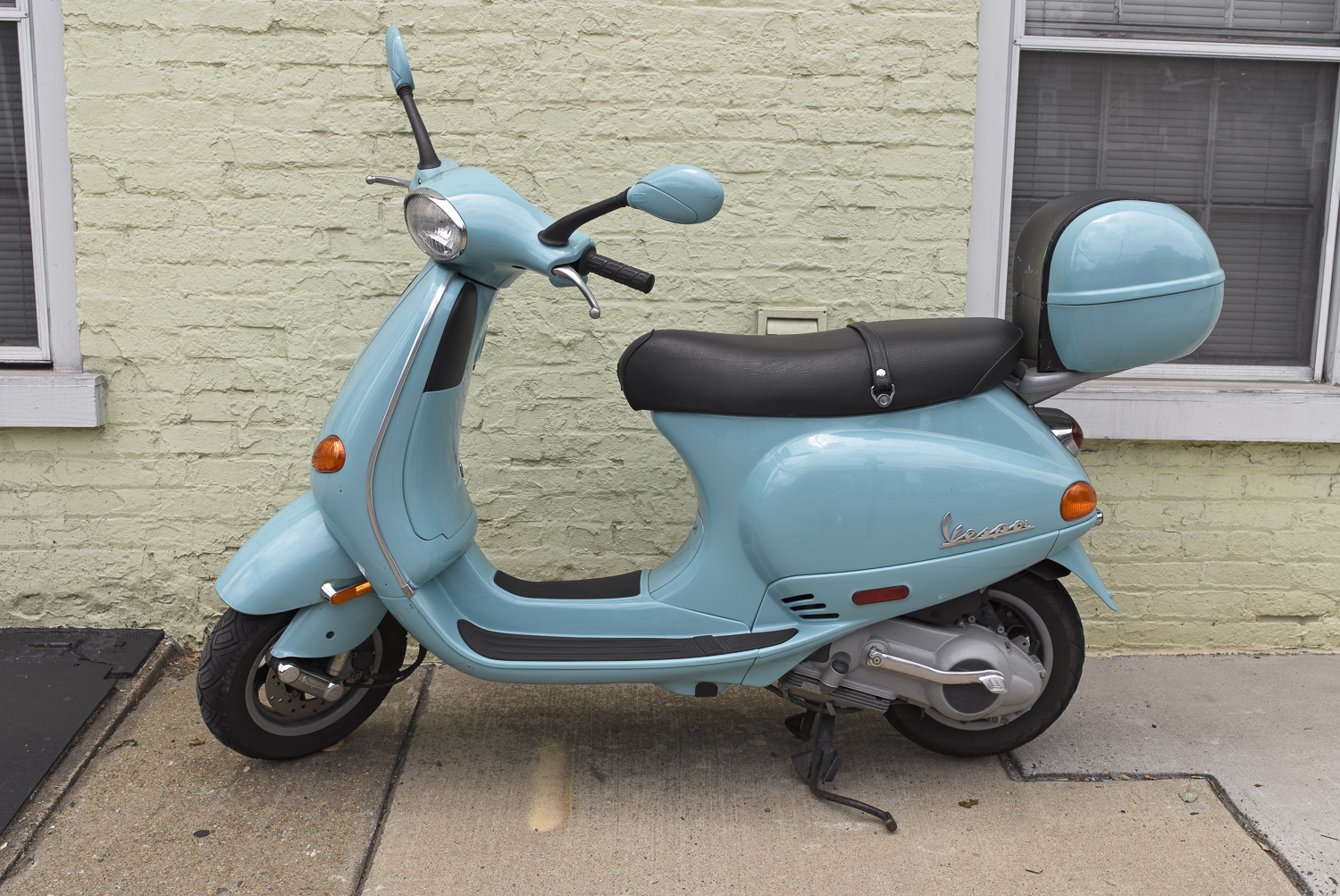 Blue Scooter - Alexandria, Virginia, 2011