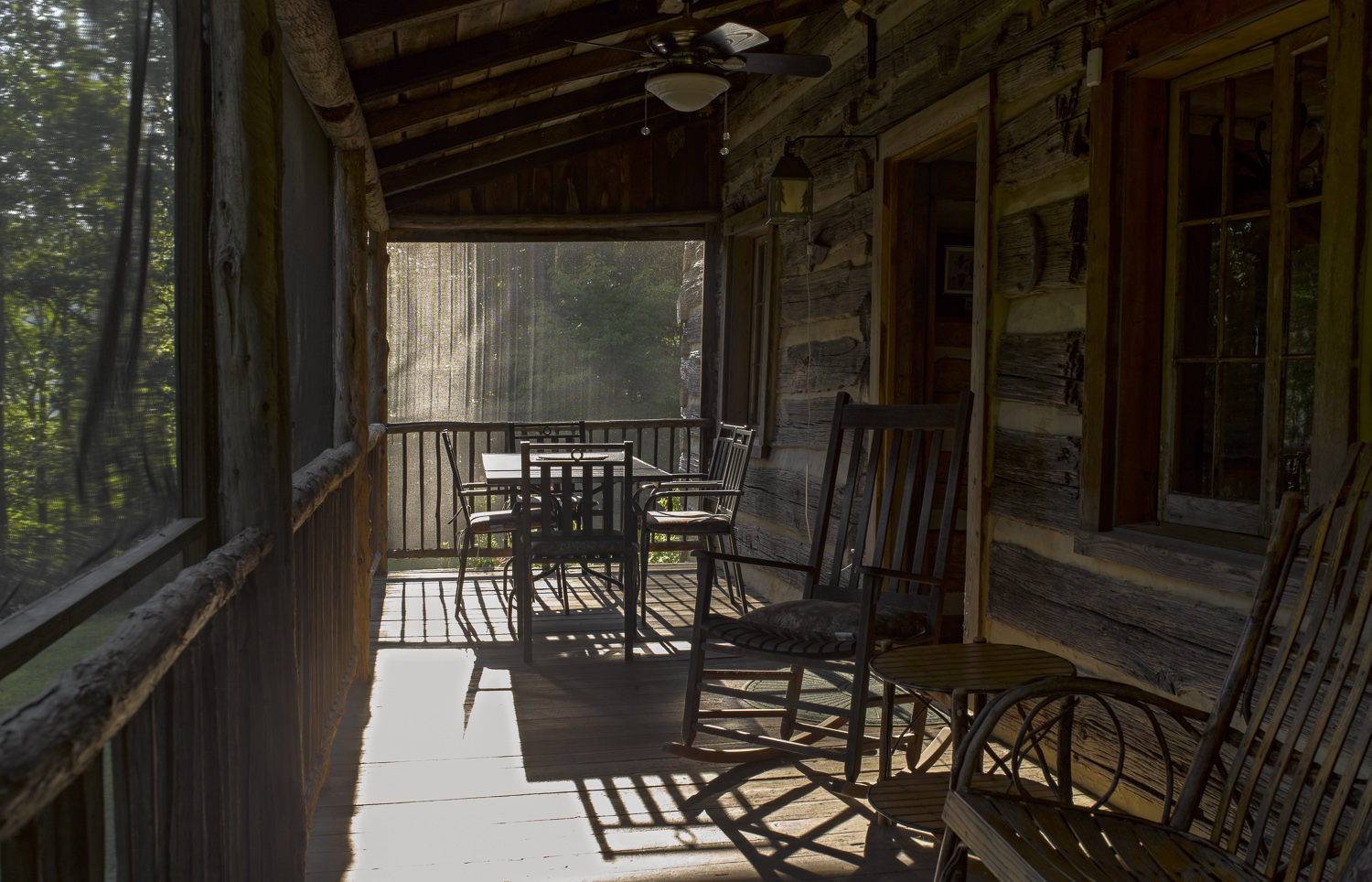 Screened porch - Naked Mountain, Virginia, 2011