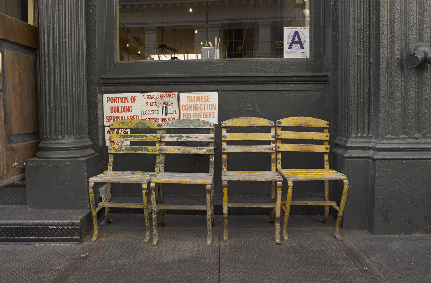 Chairs and signs - New York, 2011