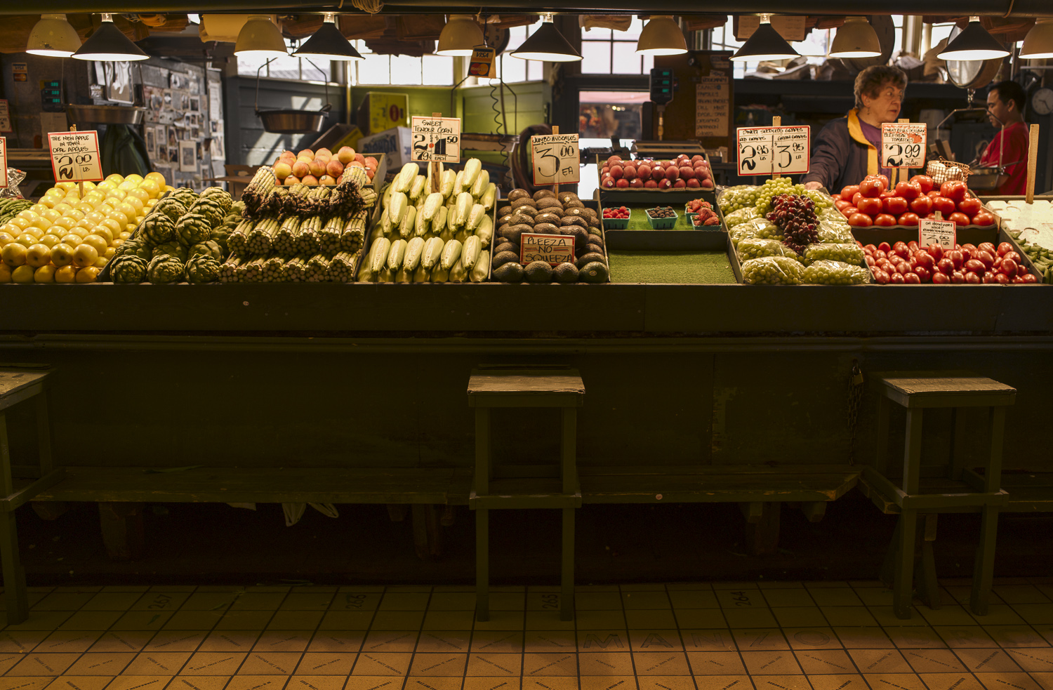 Vegetable Stall, Pike Street Market, Seattle - 2010