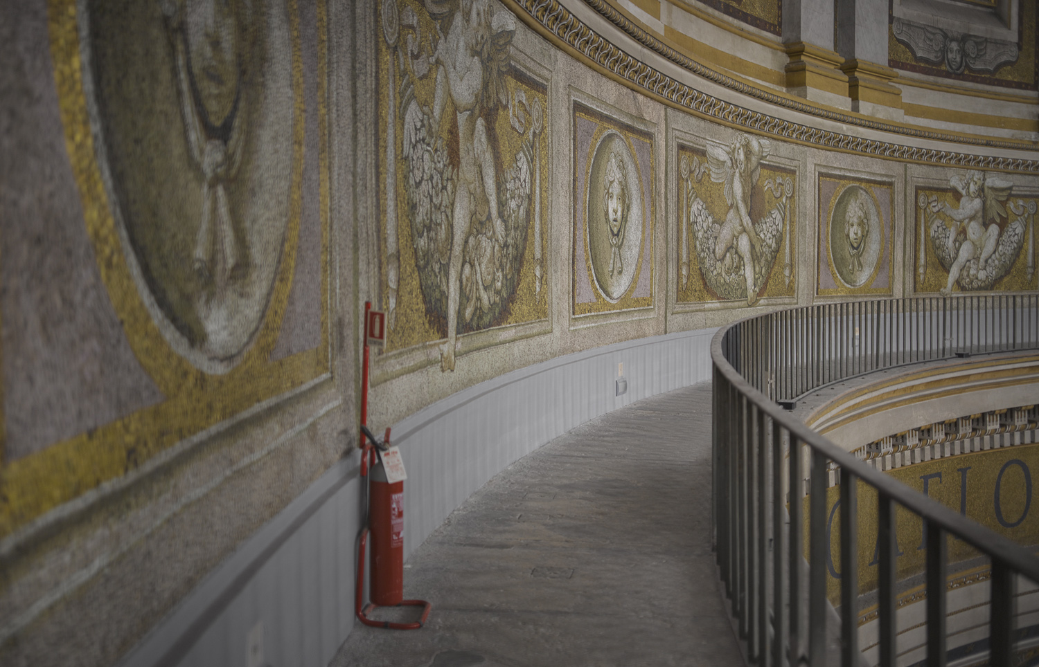 Mosaic and fire extinguisher - Vatican, 2010