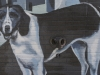 Painted dog on wall - Charlottesville, Virginia, 2011