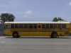 Yellow bus - highway, California, 2010