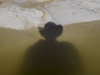 My shadow in a winter rockpool - Negev, 2010