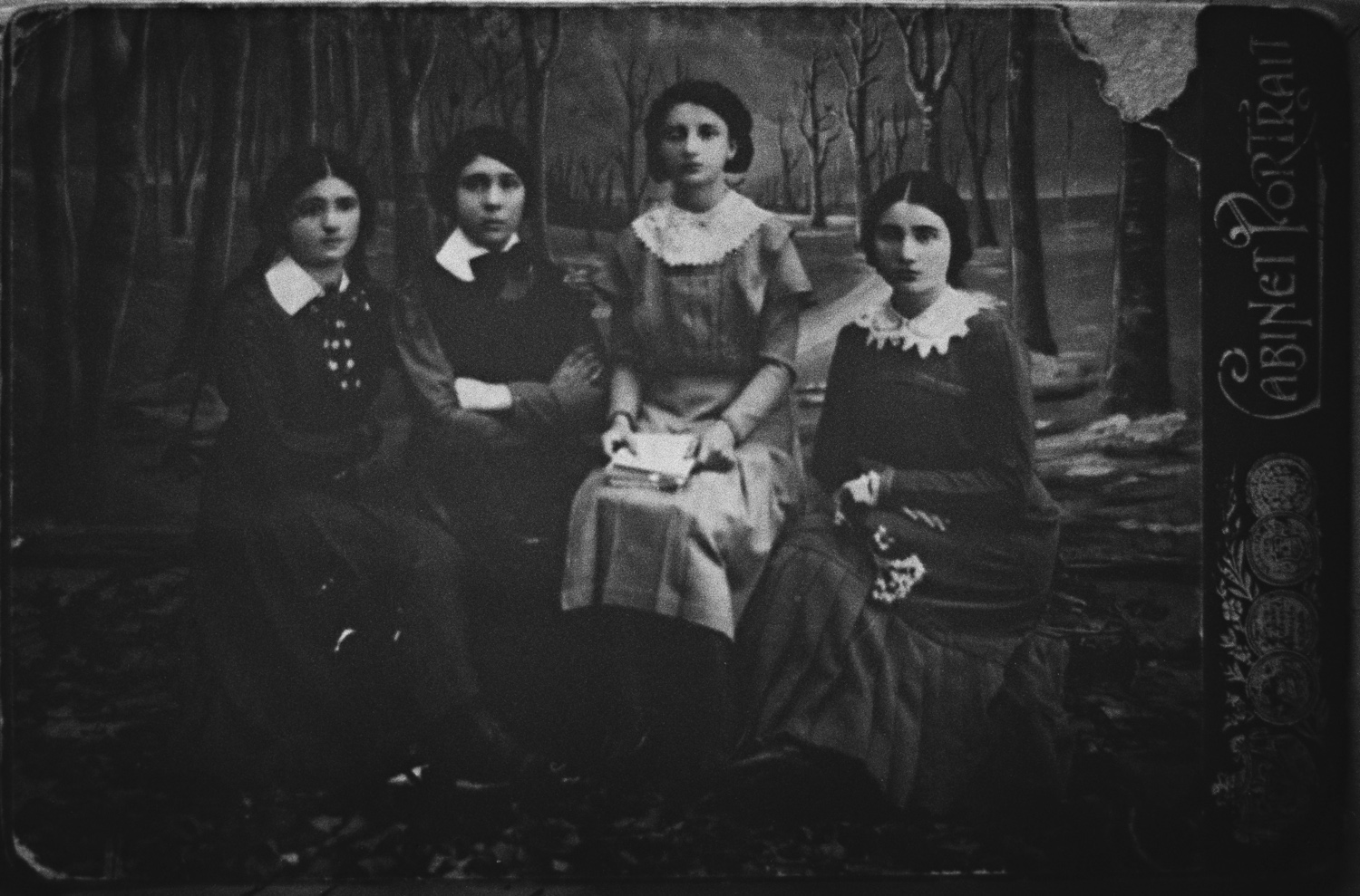 Sima (first on the left) and sisters - Lechovitch, Belarus, circa 1915
