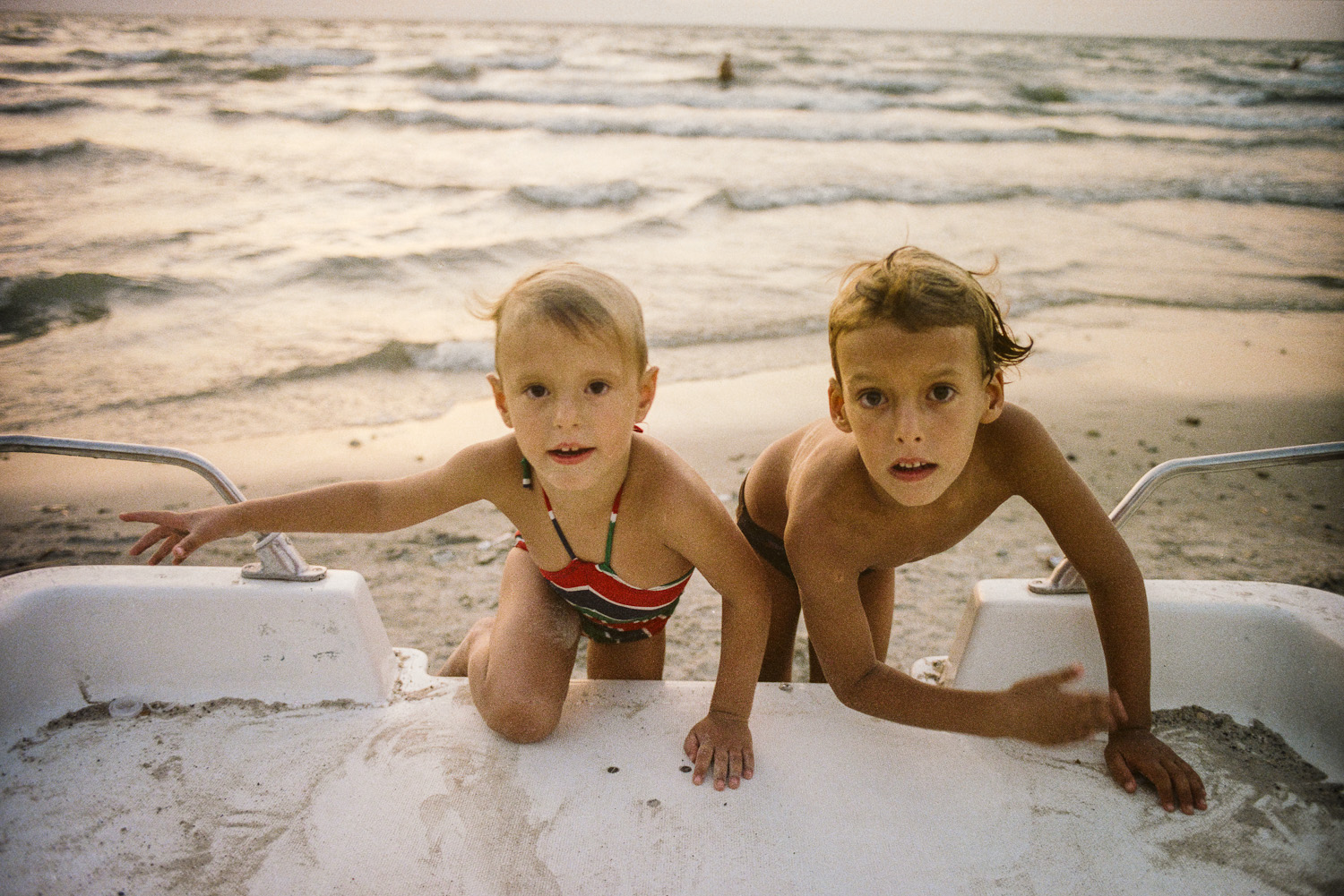 Liad and Yaniv, Lake Kinneret - 1985