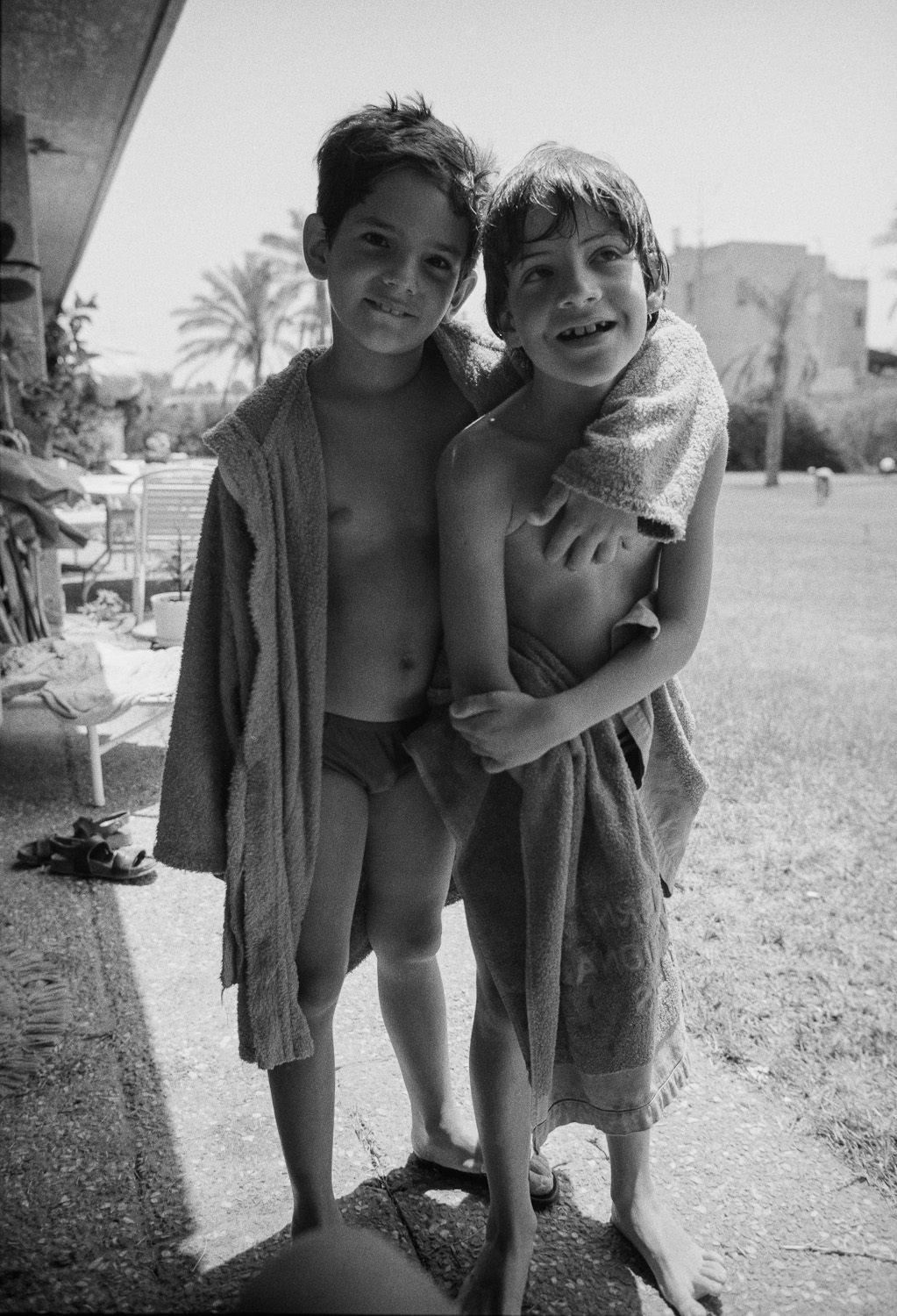 Tomer and Guy, Golden Beach - 1987