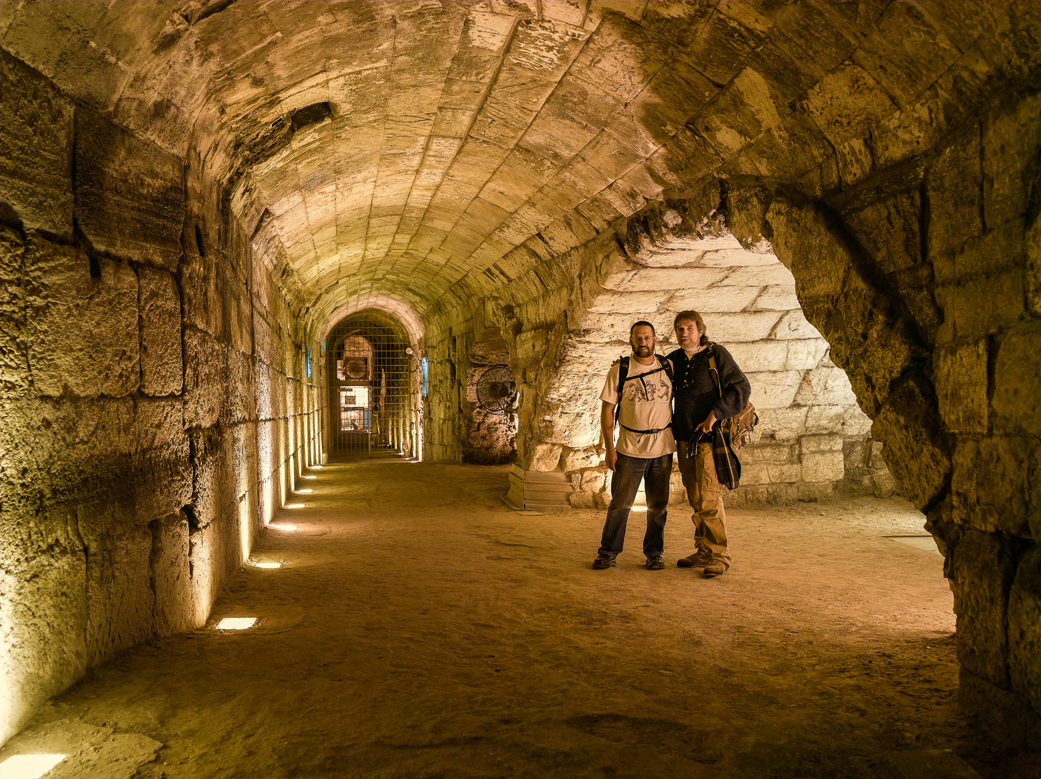 Brothers, David and Leon in the Kotel Tunnels - Jerusalem, 2005
