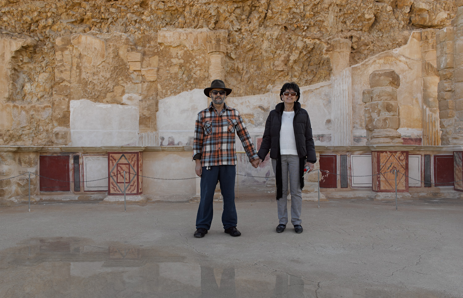 Fanny and myself - Masada, 2013