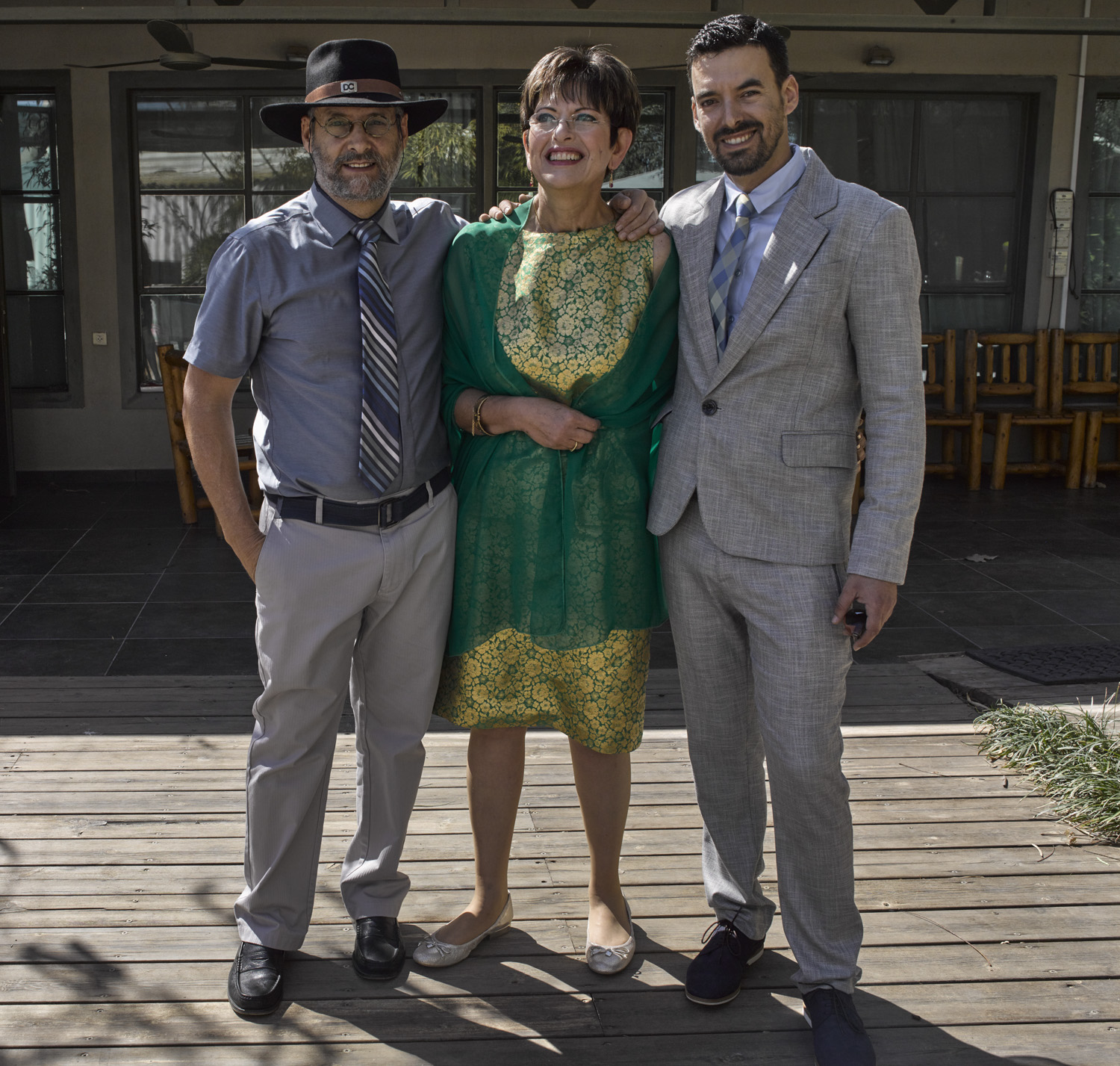 Leon, Fanny and Yaniv - Sde Nitzan, March 2015