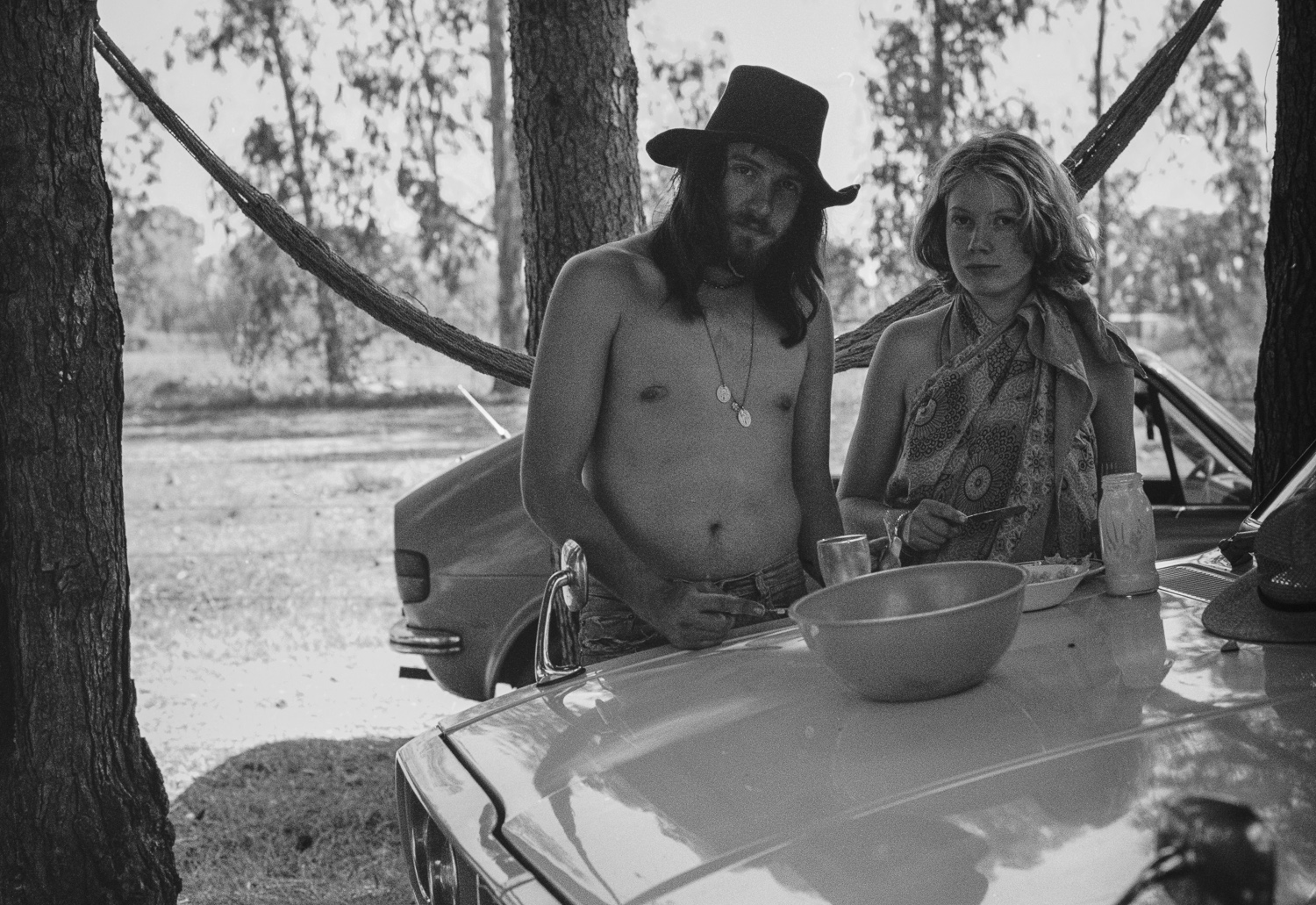 David and Liz on the farm, Vaal River - 1976