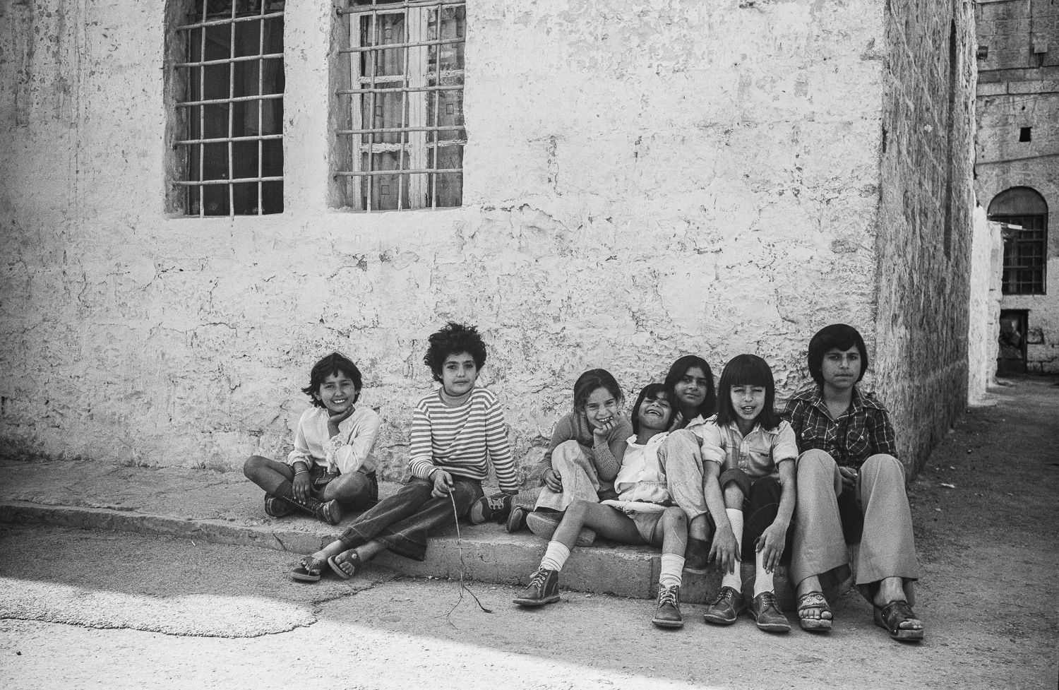 Sitting children - Jerusalem, 1976