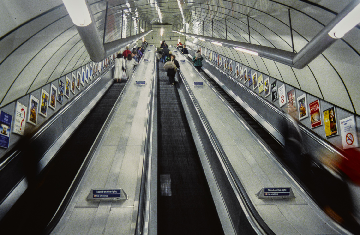 Escalator - London, 1990