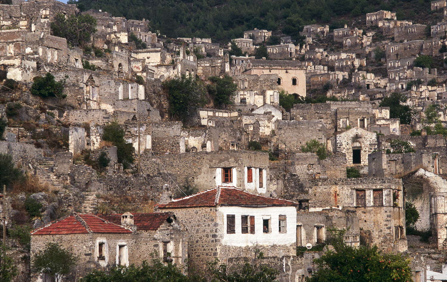 A town in Turkey that was deserted by its Greek people during the First World War. Now a national monument.