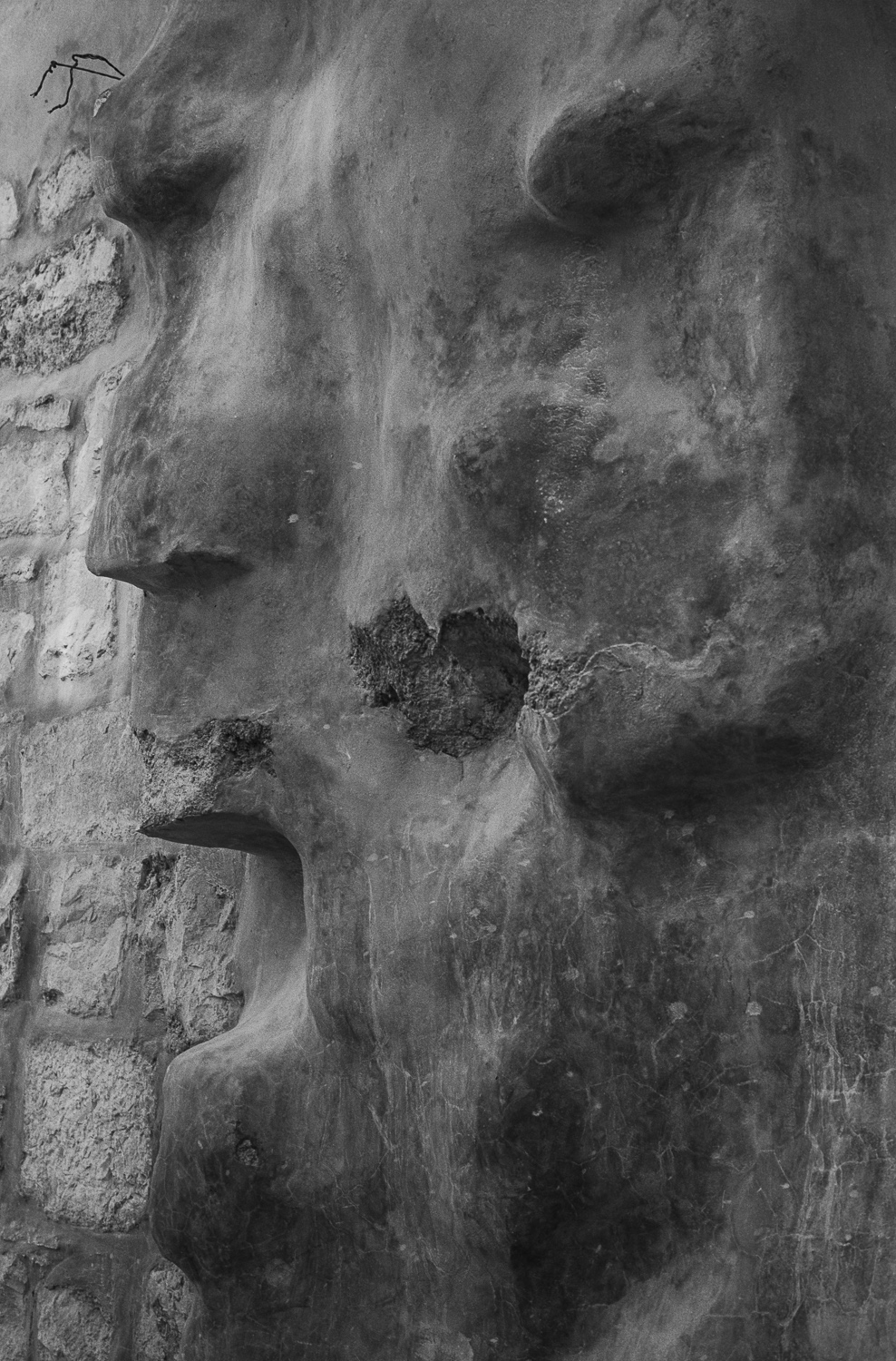Face in concrete, Jerusalem - 1979