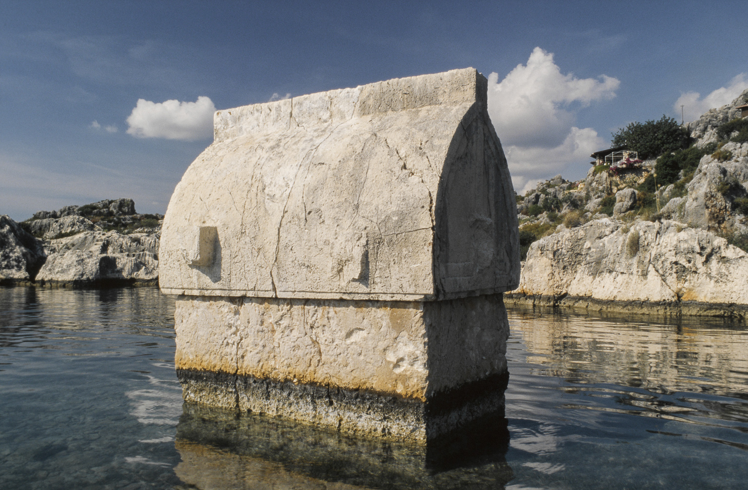 Submerged sarcophagus - Kekova, Turkey, 1997