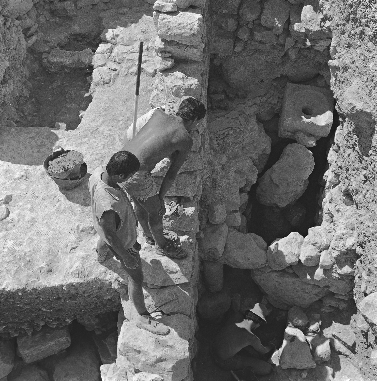 Discovering the toilet - Jerusalem, 1979