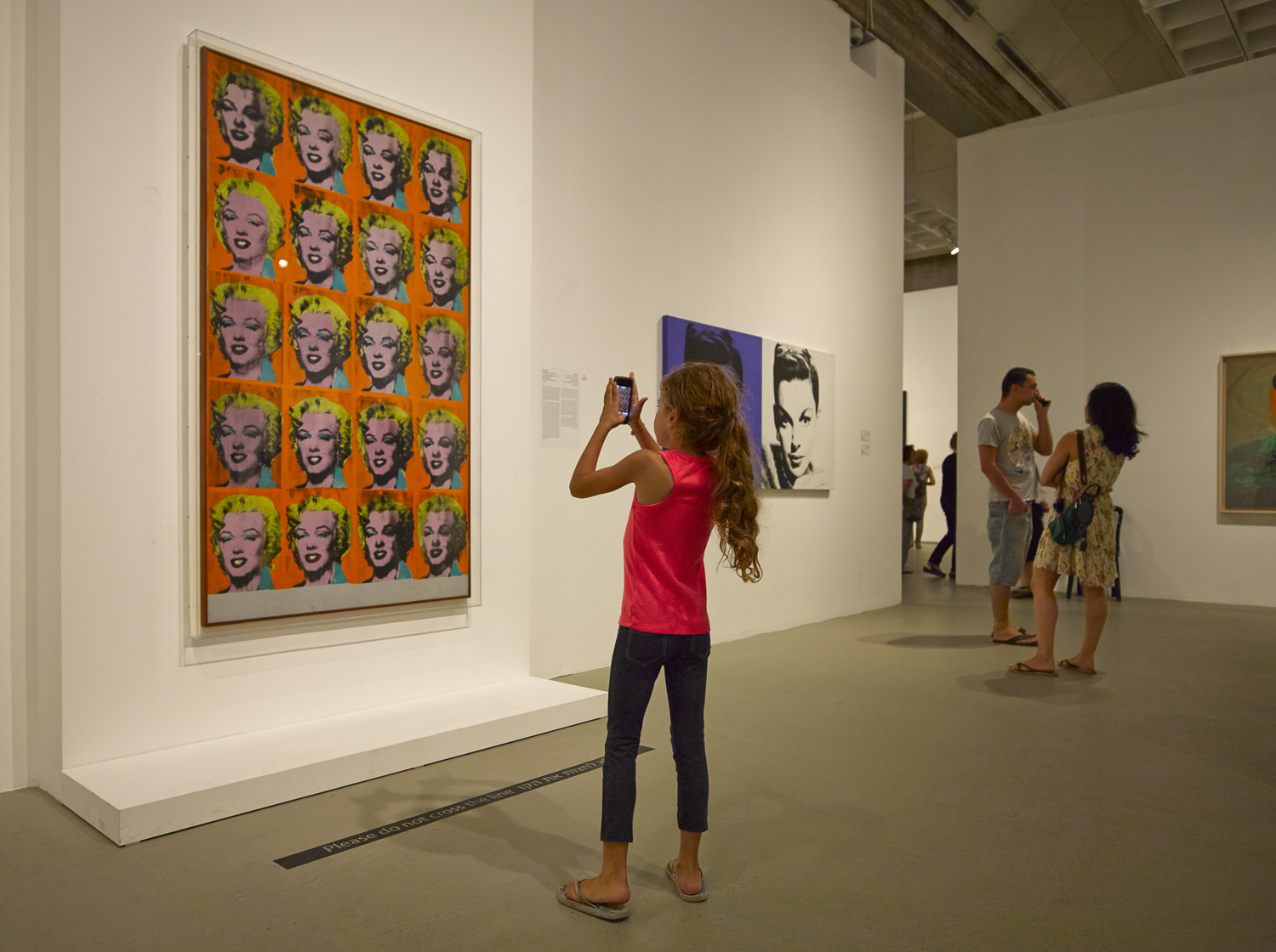 Girl and Smartphone - Tel Aviv Museum, 2013