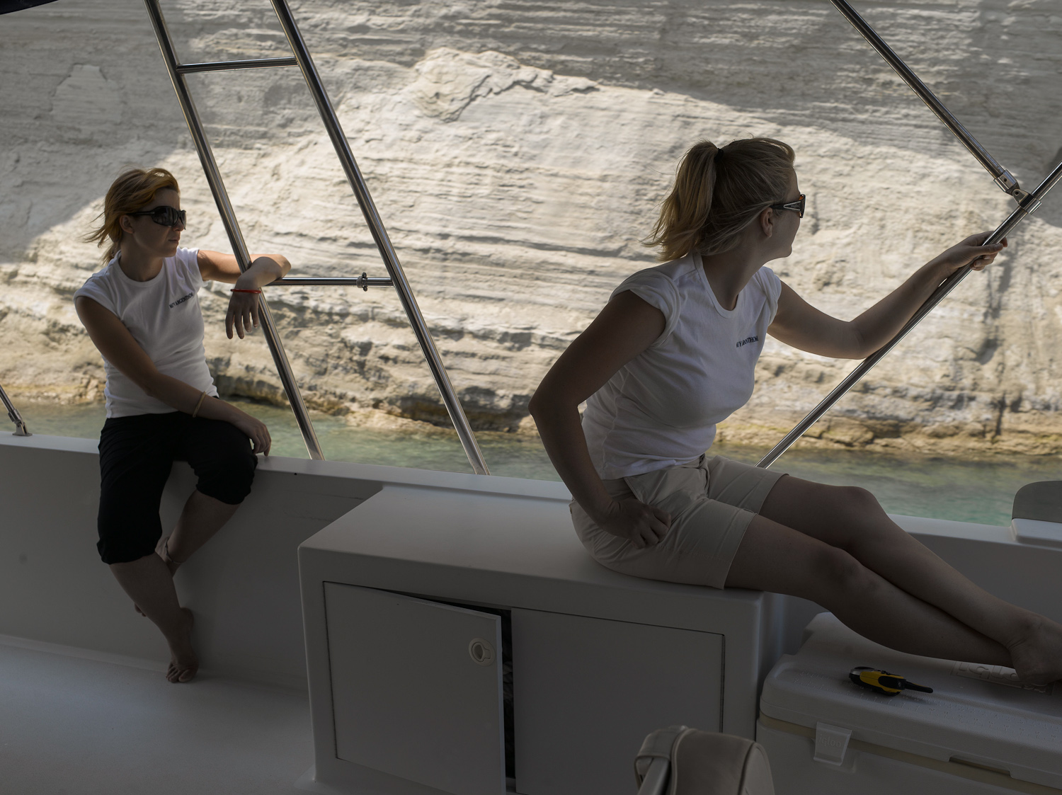 Tina and Darcy - Corinth Canal, 2008