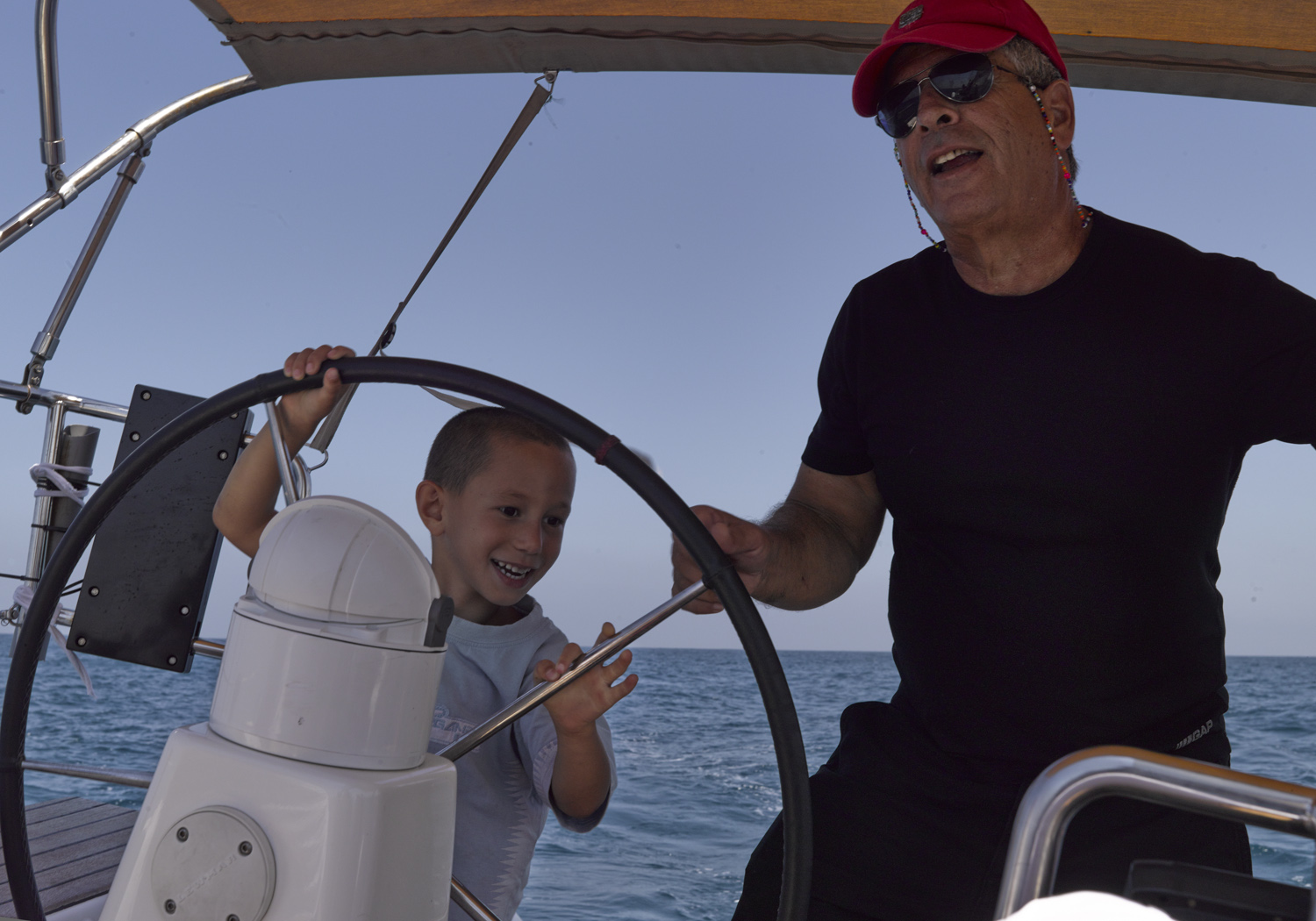 Sailing with people from Netiv Haasara - Tel Aviv, 2014