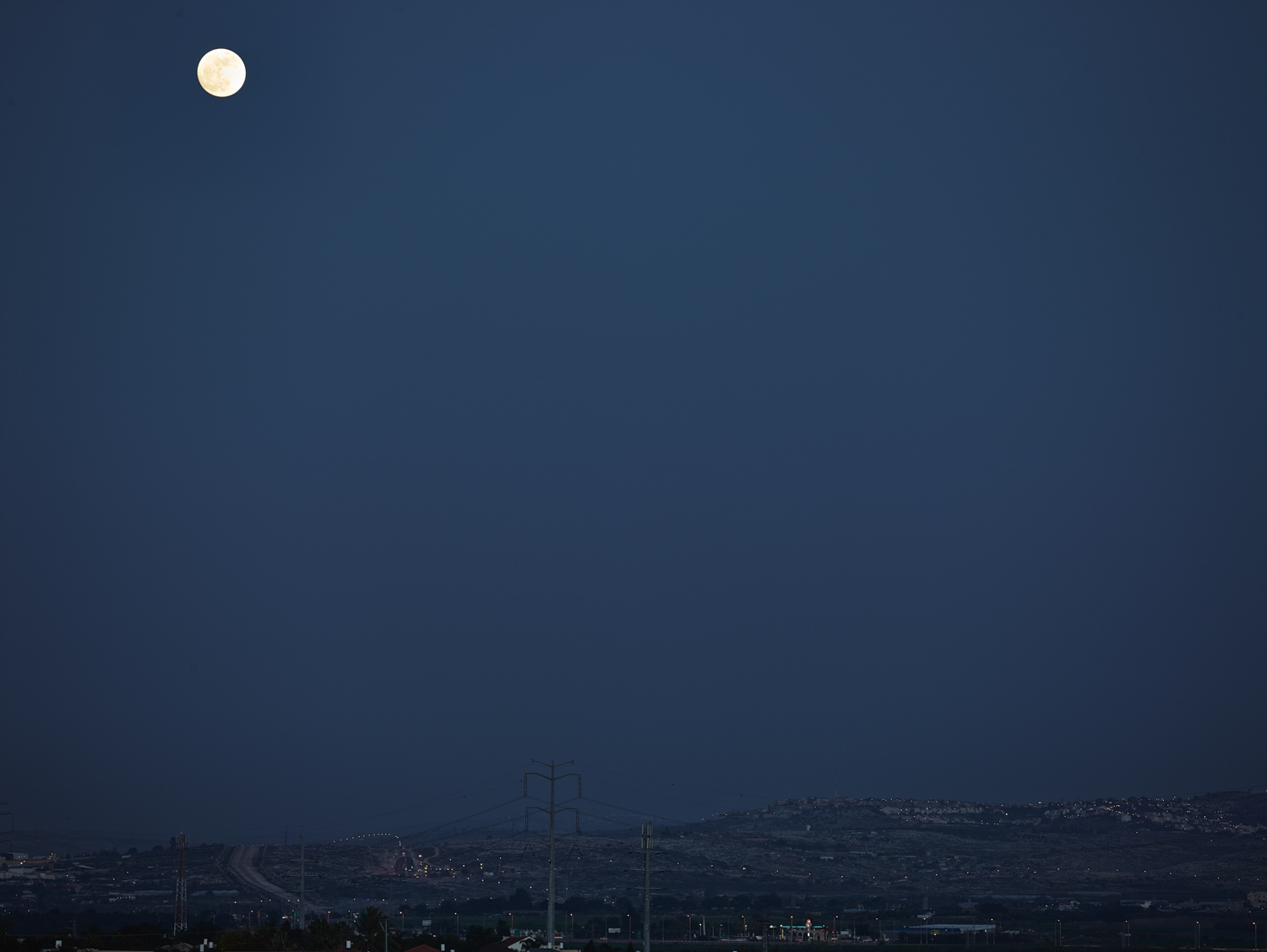 Moon over Kalkilya - Kfar Saba, 2013